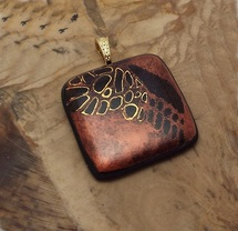 Glass scales pendant