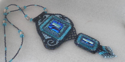 Blue Midnight Beaded Necklace
