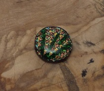 Gold Glass Cabochon