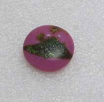 Cranberry Sparkle Glass Cabochon